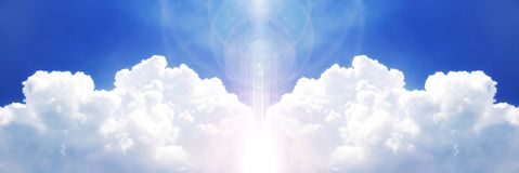Powerful cloud on the blue sky Royalty Free Stock Photo