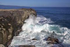 Powerful Coastline Waves Stock Images