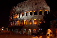 Powerful Colosseum at night, Rome Royalty Free Stock Photo