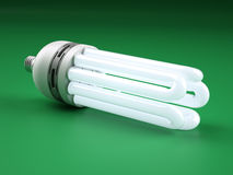 Powerful Compact Fluorescent Lightbulb Stock Images