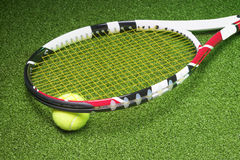 Powerful and Compact Tennis Racket with Ball Stock Photography