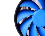 Powerful computer cooler with blue fun Stock Image