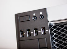 Powerful computer with USB 3 ports Royalty Free Stock Images