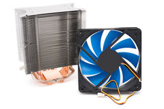 Powerful CPU cooler Stock Image