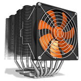 Powerful CPU cooler with heatpipes Royalty Free Stock Photography