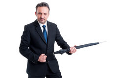 Powerful and dangerous business man Royalty Free Stock Images