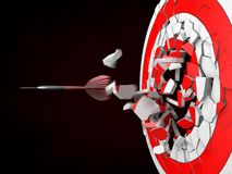 Powerful dart hit Royalty Free Stock Photo
