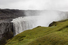 Powerful Dettifoss waterfall in Vatnajokull. Stock Images