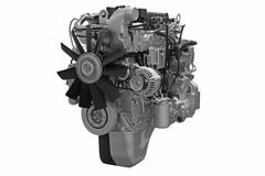 Powerful diesel engine Stock Photo