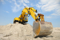 A powerful digger is parked Royalty Free Stock Photo