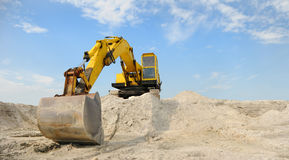 A powerful digger is parked Royalty Free Stock Image