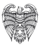 Powerful eagle or griffin Royalty Free Stock Photo