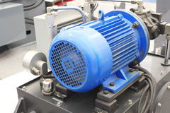 Powerful electric motors for industrial equipment. Powerful electric motors for modern industrial equipment stock images