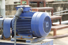 Powerful electric motors for modern industrial equipment Royalty Free Stock Photo