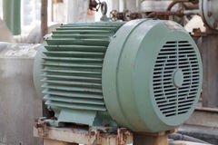 Powerful electric motors for modern industrial equipment Royalty Free Stock Image