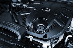 The powerful engine. Of the modern car royalty free stock photo