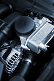 Powerful engine. The powerful engine of the modern car stock photo