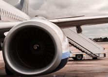 The powerful engine. Of an airplane Royalty Free Stock Image