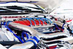 Powerful engine of the car Royalty Free Stock Images