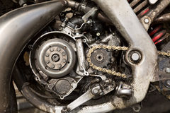 Powerful engine of the modern motorcycle Royalty Free Stock Photography