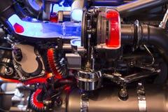 Powerful engine of a modern sport car Royalty Free Stock Photos