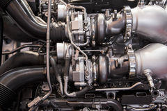 The powerful engine of a sport car Royalty Free Stock Photos