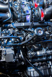 The powerful engine of a sport car Stock Images