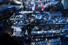 The powerful engine of a sport car Royalty Free Stock Image
