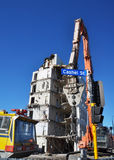 Powerful Equipment For Christchurch Demolition Royalty Free Stock Photography
