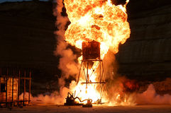 Powerful explosion. Its powerful explosion at night Royalty Free Stock Photos