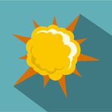 Powerful explosion icon, flat style. Powerful explosion icon. Flat illustration of powerful explosion vector icon for web Stock Photography