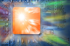 Powerful, Fast Concept CPU / Computer Processor on Royalty Free Stock Photography
