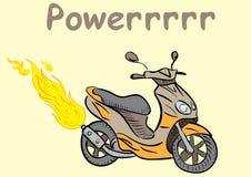 Powerful fiery scooter Stock Photo