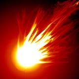 Powerful Fireball. Abstract vector of a red fireball.  Danger Royalty Free Stock Photos