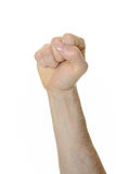 Powerful Fist. Pump against a white background Royalty Free Stock Images