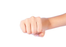 Powerful fist pump woman hands Royalty Free Stock Images