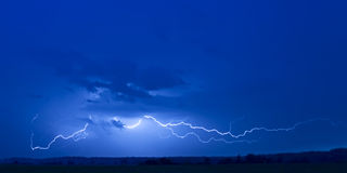 Powerful flat lightning Royalty Free Stock Image