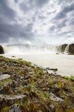 Powerful Godafoss Falls, Iceland Royalty Free Stock Images