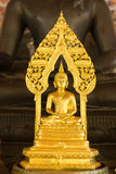 Powerful gold buddha statue. The buddha statue at Pojjanawararam temple in Chiang mai, Thailand Royalty Free Stock Photo