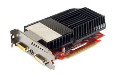 Powerful graphic adapter with passive cooler. Advanced gamers graphic adapter with huge passive cooler Royalty Free Stock Photos