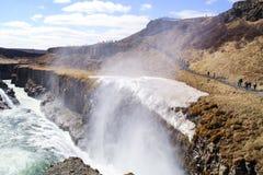 Gulfoss waterfall in Iceland. Powerful Gulfoss waterfall in Iceland stock image