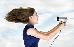Powerful hairdryer Royalty Free Stock Image
