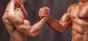 Powerful handshake Stock Image