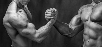 Powerful handshake Stock Photos