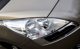 Powerful headlight car Royalty Free Stock Image