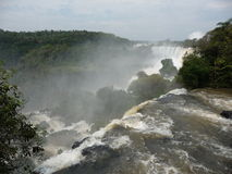 Powerful Iguazu Falls Royalty Free Stock Image