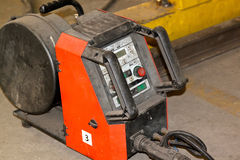 Powerful industrial arc welder. With control panel Royalty Free Stock Photo