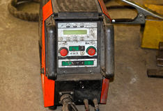 Powerful industrial arc welder. With control panel Stock Images