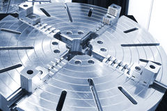 Powerful industrial equipment rotary table. Close-up Royalty Free Stock Photography