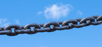 Powerful iron chain Royalty Free Stock Photography